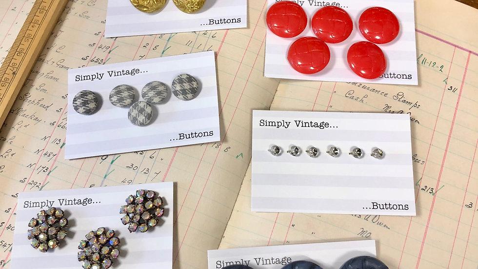 Some More Vintage Button Sets