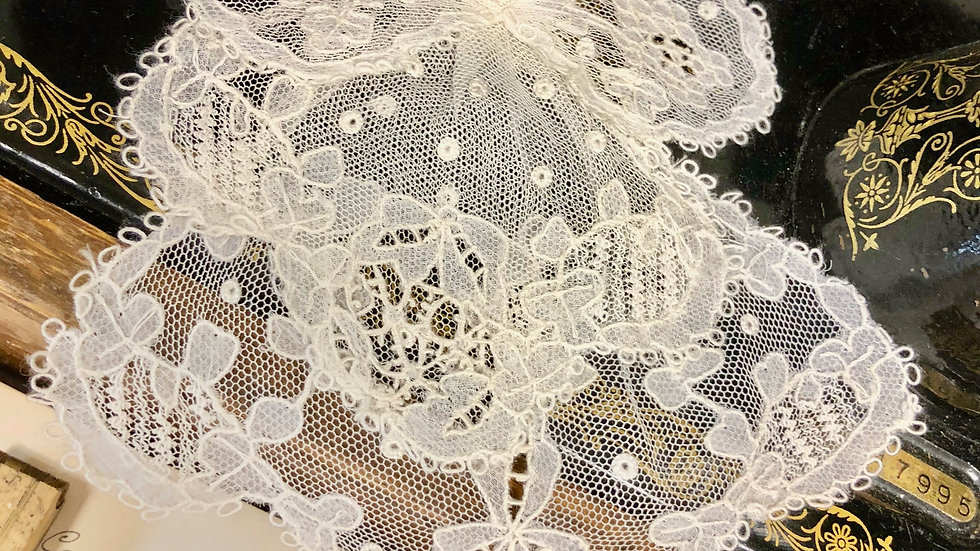 Beautiful Lace Jabot or Bow - Lovely Vintage Condition