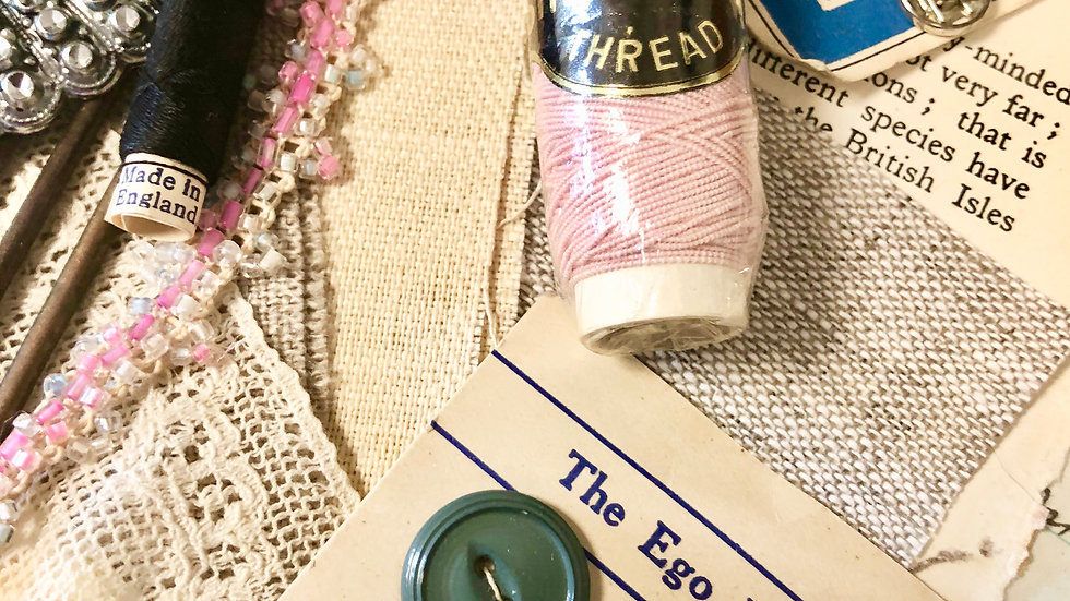 ONE ONLY - Creative Slow Stitch Pack -  Lovely collection of Vintage Stitchery