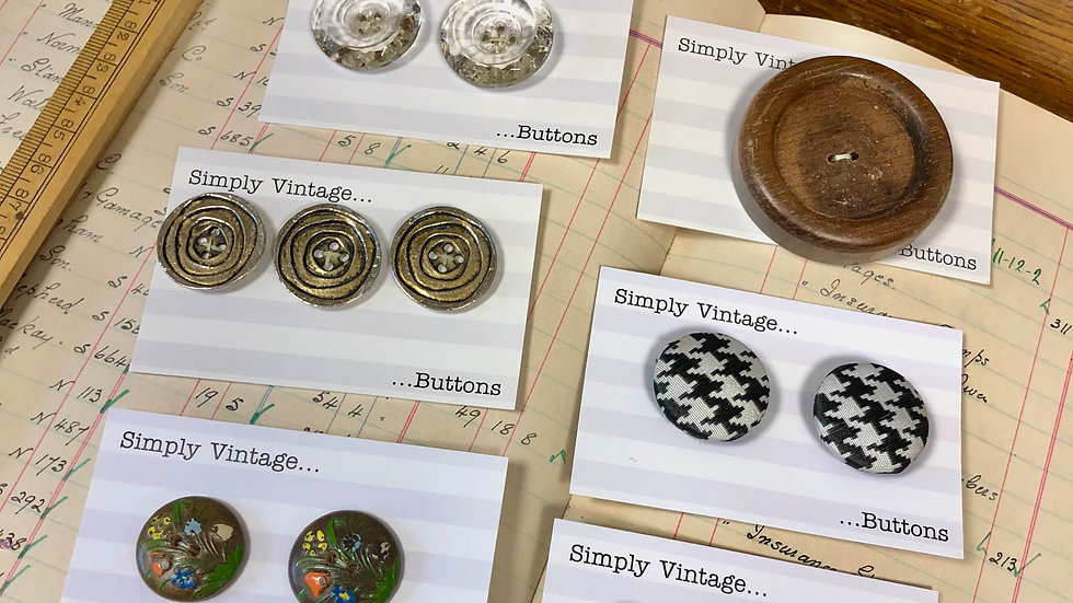 And Yet More Vintage Button Sets