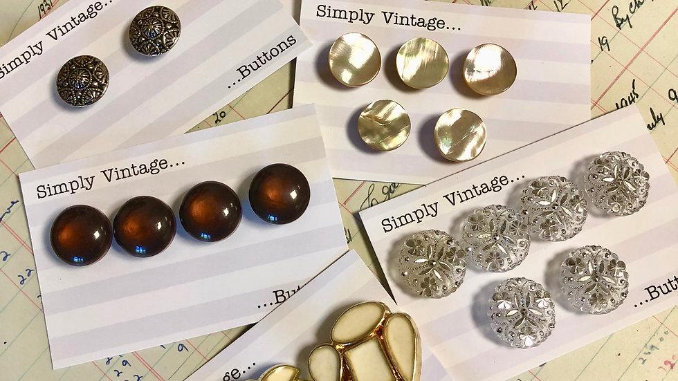 Vintage Button Sets