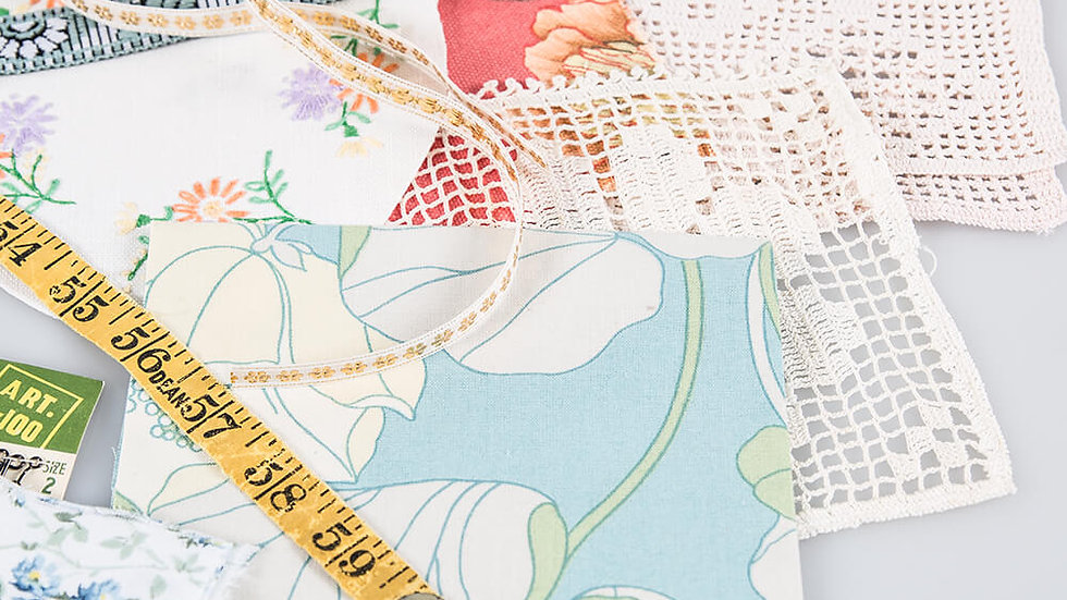 Simply Vintage Fabric, Ribbon & Lace Inspiration Pack