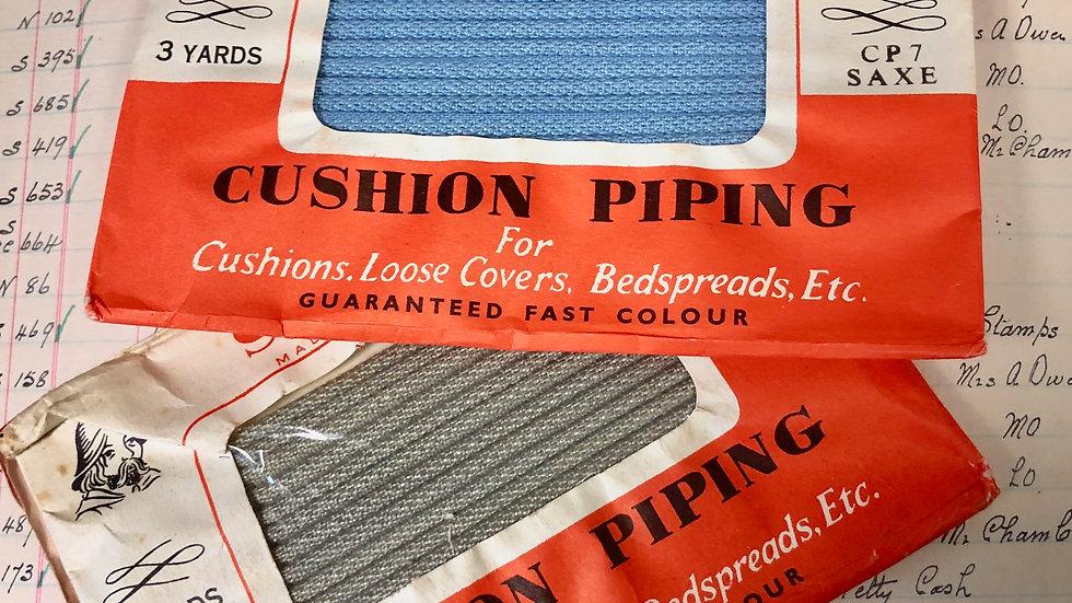 Pair of vintage Saxon Cushion Piping Packs - 3yds each