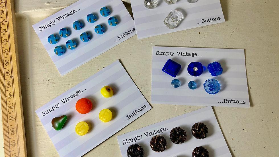 Even More Vintage Button Sets