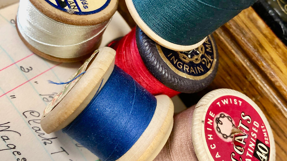 Another Collection of Vintage Wooden Cotton Reels