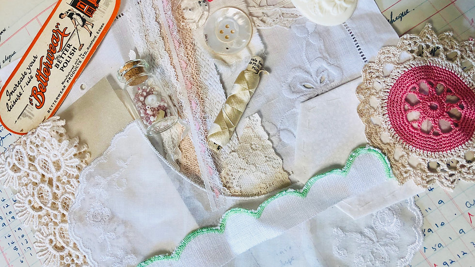 ONE ONLY - Creative Slow Stitch Pack -  Lovely collection of Vintage