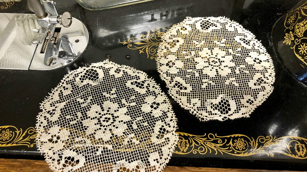 Pair of Delicate Lace Circles