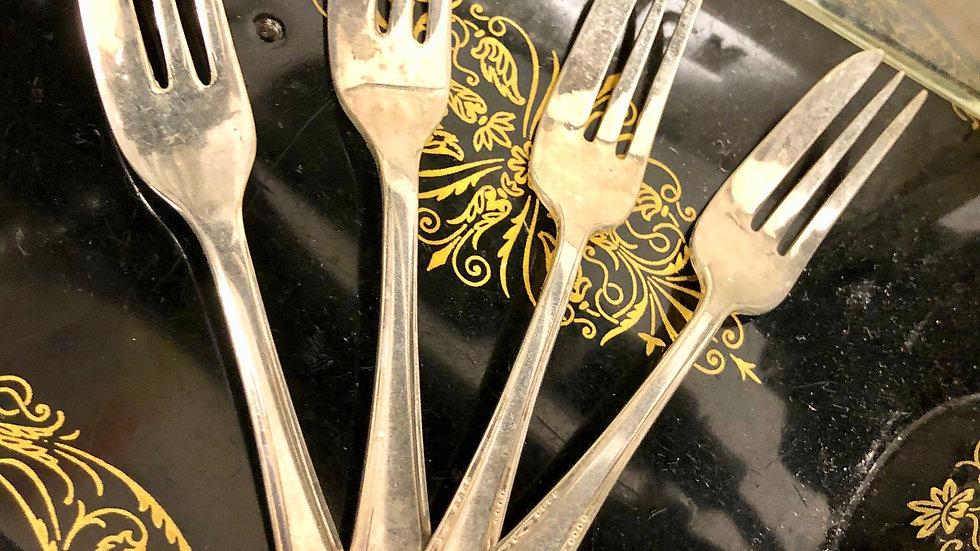 Set of 4 Cake Forks - EPNS