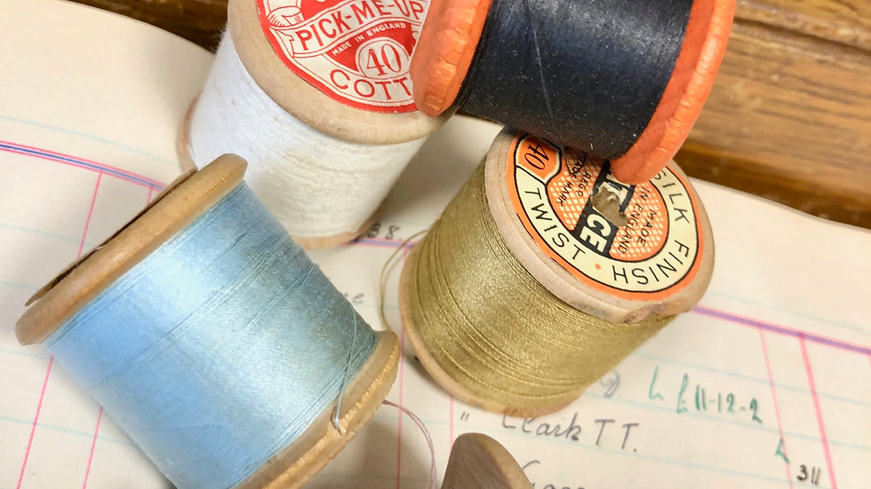 A new Collection of Vintage Wooden Cotton Reels