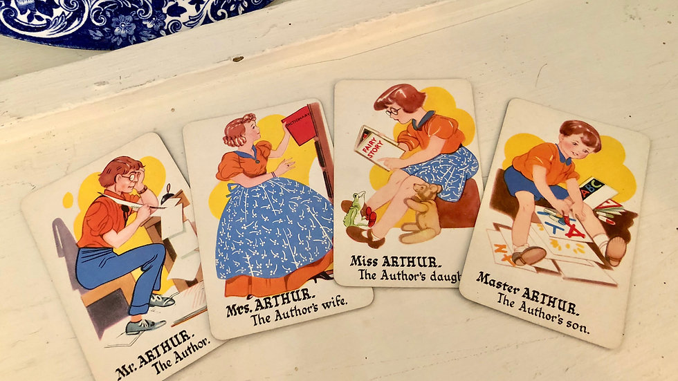 Set of 4 - Happy Family Playing Cards - choice of Family
