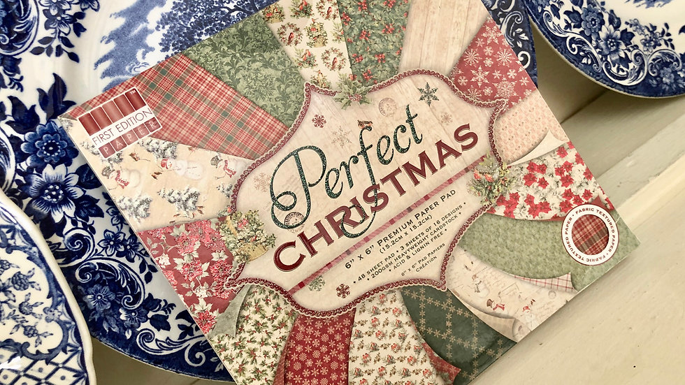 "Perfect Christmas Craft Paper Pad - 6"" x 6"" - 48 Papers"