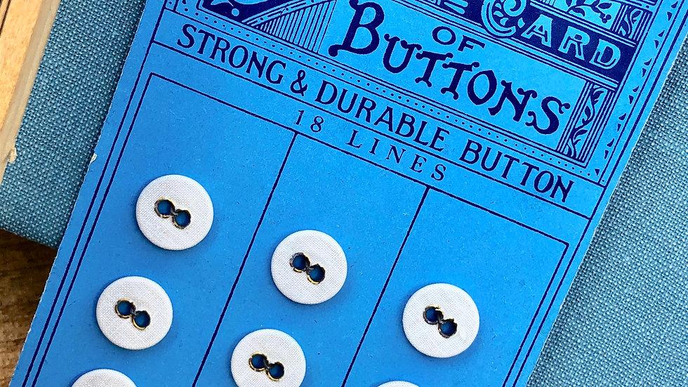Vintage Linen Button Card - Original Unused Stock