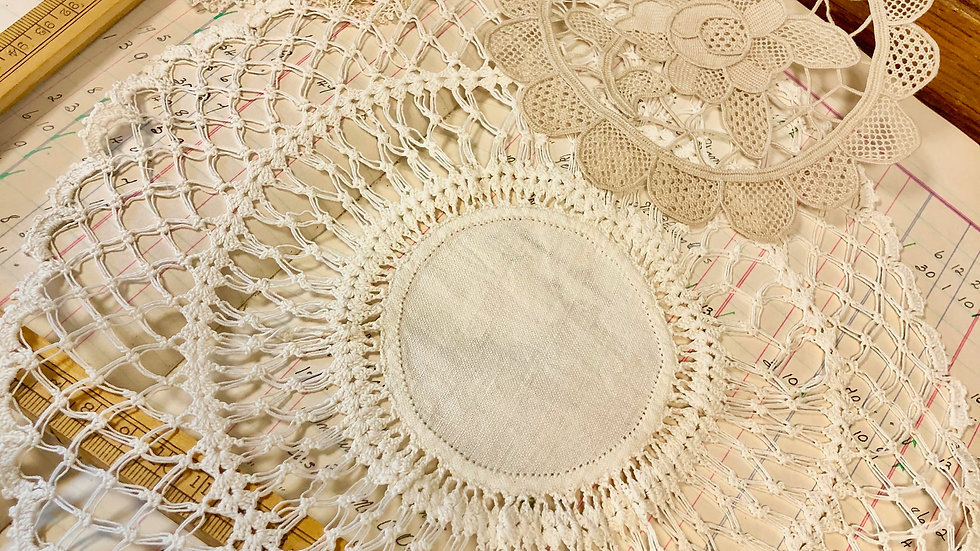 Trio of Beautiful Lace Doilies or Mats - Lovely Vintage Condition