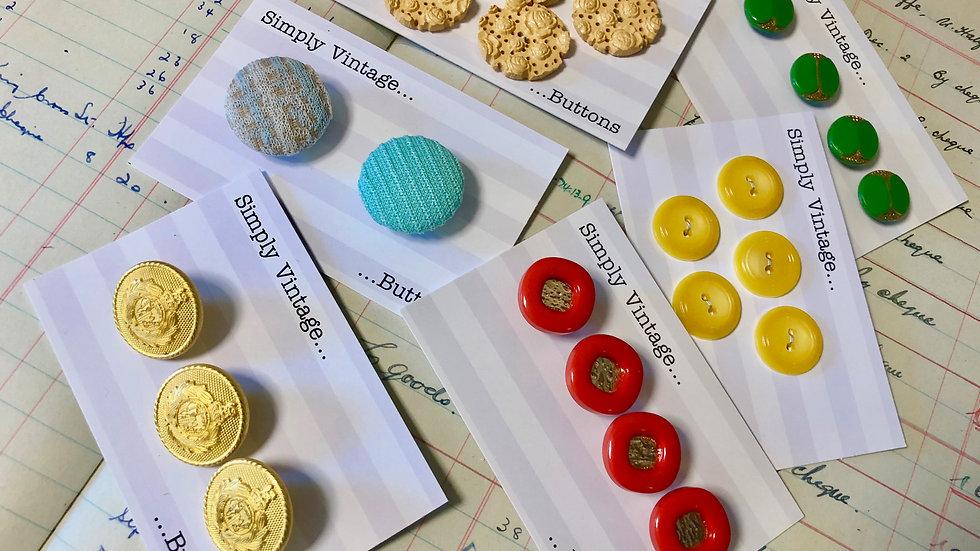 More Vintage Button Sets