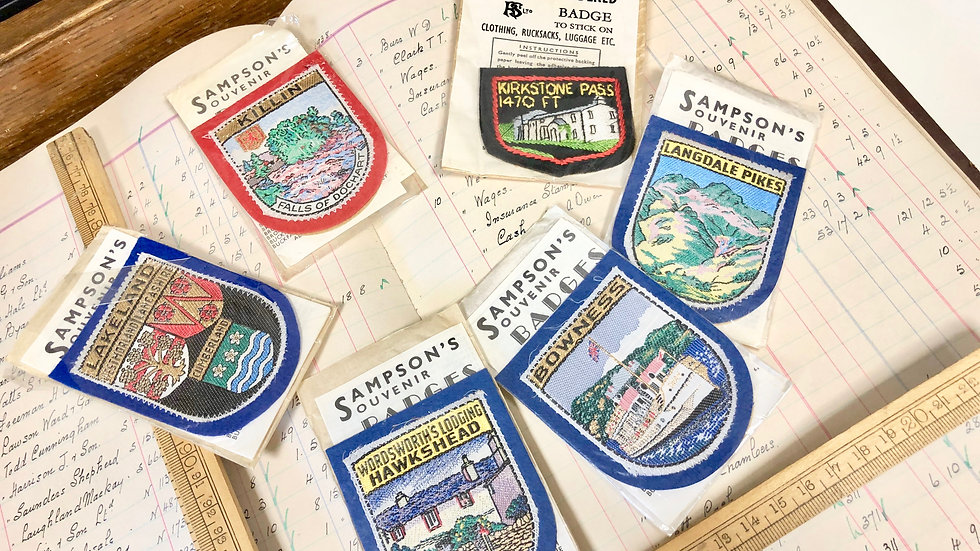 Set of 6 Souvenir Patches - lovely designs.