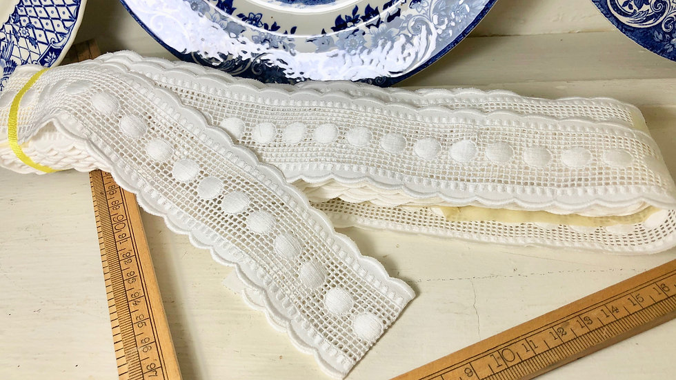 Gorgeous Cotton Trims - 3 designs, by the Metre
