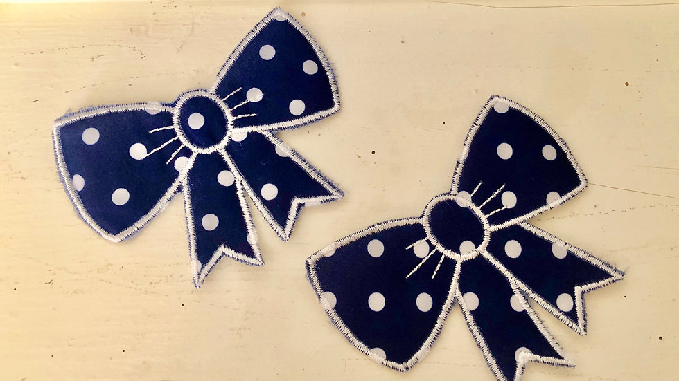 Pair of Little Bows -  For Applique and more
