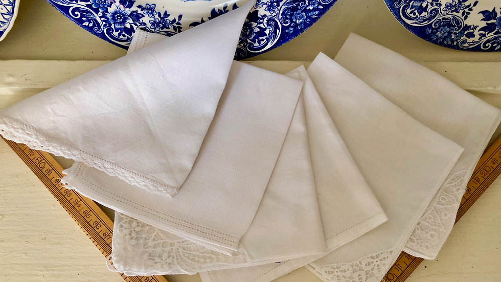 Mixed packs of Lovely Vintage Linen, Cotton & Lace Hankies