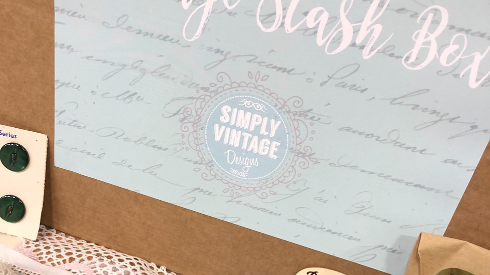 Simply Crafty Vintage Stash Box - Large