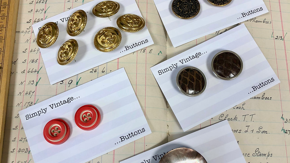 Yet Another Collection of Vintage Button Sets