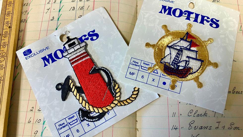Pair of Nautical Motifs - Unused