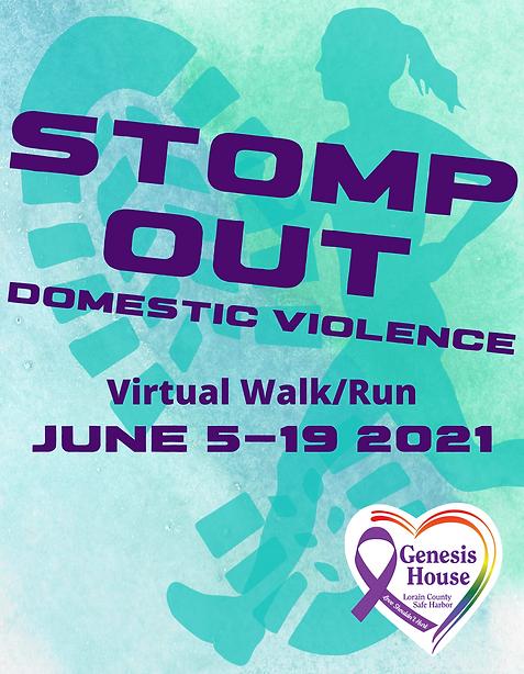 Stomp Out Domestic Violence T-Shirt Desi