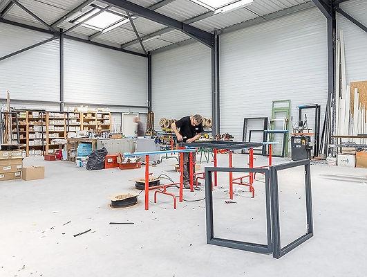 L'atelier de la Menuiserie Danion à Nivillac dans le Morbihan - crédit : Christopher Guillou