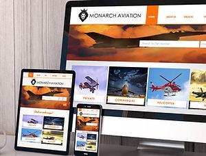 Aviaion webite design