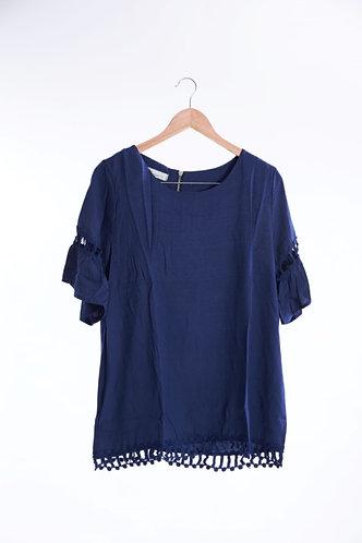 Cotton Lace Tunic Top - 綿質花邊短上衣