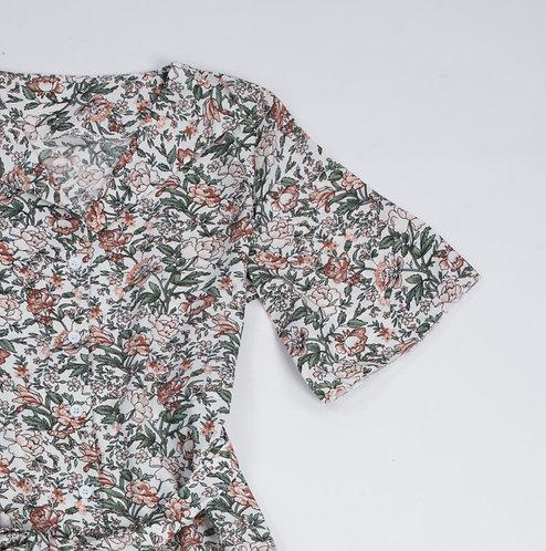 Floral Pattern One-piece Dress - 碎花圖案連身裙