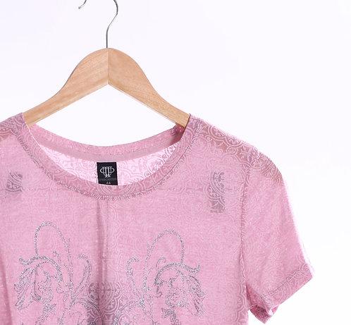 European Leaf lame Mix Opal Line T-shirt - 葉片圖案 T裇