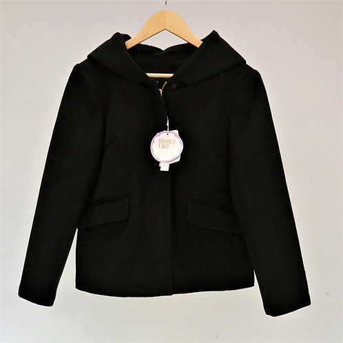 Fake Compression Wool Short Coat - 仿羊毛連帽短褸