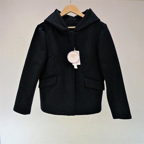 Fake Compressed Wool Short Coat - 仿羊毛連帽短褸