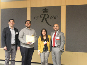 Abhay Athaley wins the Best Poster Award at the 2nd Chemical and Biochemical Graduate Research Sympo