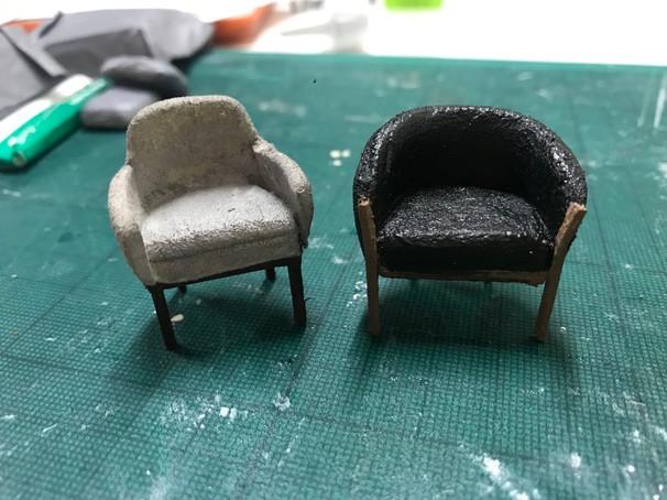 Arm chairs for Chloe Lamford