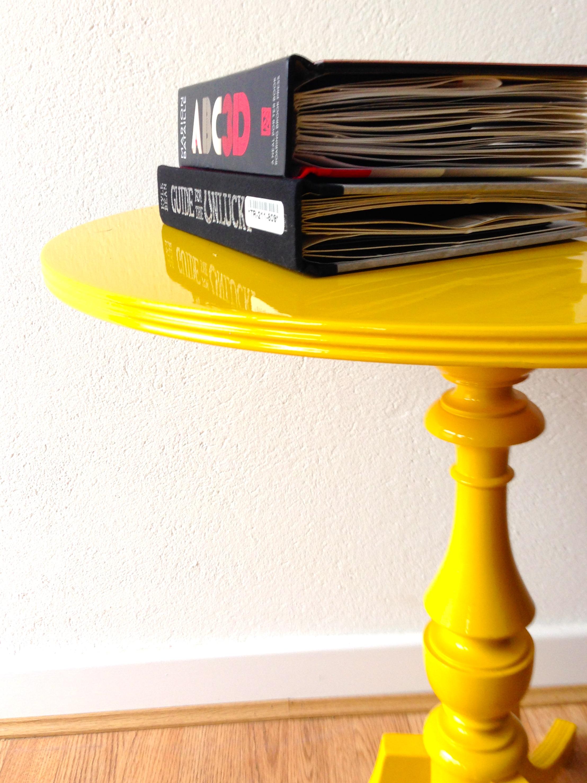 Yellow High Gloss Table