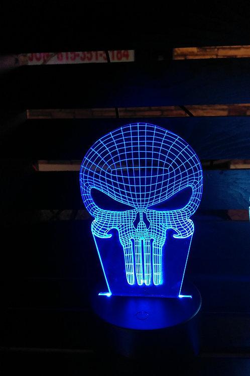 Skull Edge Lit Acrylic Light