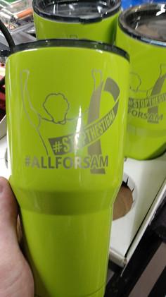 Samuel R. Myers Foundation Logo 30oz cup