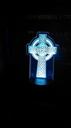 Edge Lit Acrylic Cross