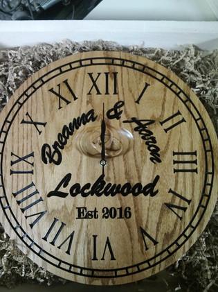 Wedding Clock in Custom Box