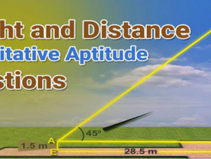 Height and distance : Aptitude