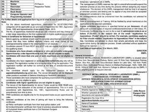 DRDO VACANCY FOR ITI 2021 /DRDO APPRENTICESHIP 2021 / DRDO APPRENTICESHIP LATEST VACANCY 2021 / DRDO