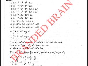 Math Algebra Formula PDF
