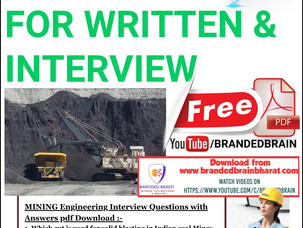 MINING ENGINEERING TOP 100 IMPORTANT QUESTIONS,CIL FOREMAN PREPARATION,NCL FOREMAN MINING BOOK PDF
