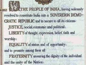 संविधान की प्रस्तावना, Preamble of Indian Constitution