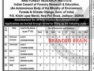MTS VACANCY 2021,FOREST GUARD VACANCY 2021,LDC JOB 2021,TECHNICIAN JOB 2021,ARID FOREST RESEARCH