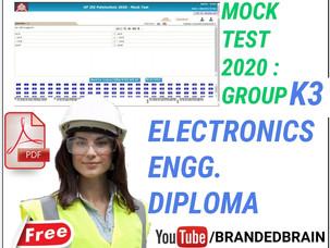 POLYTECHNIC GROUP K3 MODEL PAPER 2021/ POLYTECHNIC ELECTRONICS LATERAL ENTRY MODEL PAPER 2021