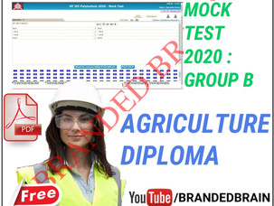 POLYTECHNIC GROUP B MODEL PAPER 2021 / POLYTECHNIC GROUP B AGRICULTURE MODEL PAPER