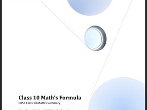 Math Formula BOOK PDF FOR  Class 10