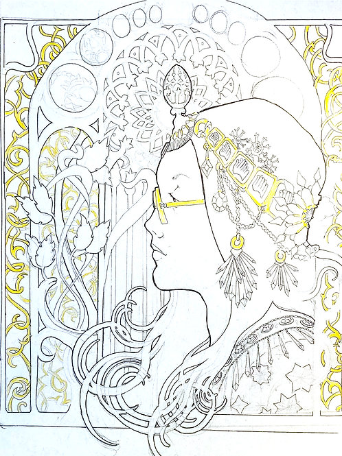 Art Nouveau Illustration with Jo Munro- Ages 12+